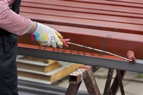 شماتیکی از سازه های فلزی حاوی پوشش ضد زنگ اخرایی درجه 1 رونق