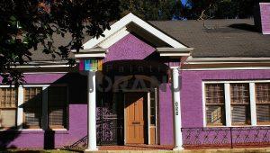 شماتیکی از کاربرد رنگ نمای ساختمان نانو